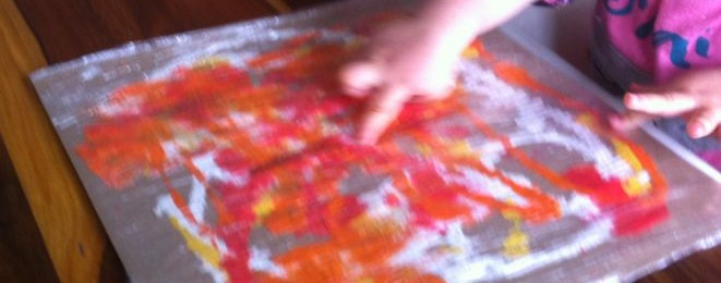 Painting Under Cling Film