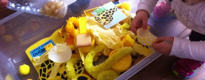 Yellow Themed Treasure Box
