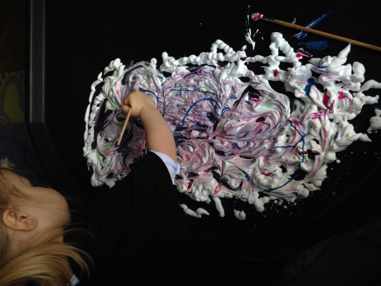 shaving foam marble - 4